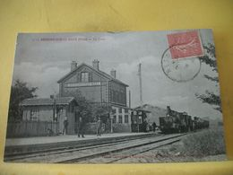 60 7788 CPA 1906 - 60 RESSONS SUR MATZ. LA GARE - TRAIN RENTRANT EN GARE. - Gares - Avec Trains
