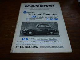 De Autotoerist N°14 1954 Limousine IFA Pub Flandria VW Coccinelle Oostham Gd Prix Moto Francorchamps - Zeitungen & Zeitschriften