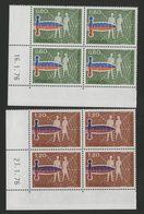 MONACO N° 1074 + 1075 Cote 11.6  € 2 Blocs De 4 Neufs ** (MNH) Avec Coin Daté Du 16/1/76 Et 23/1/76. TB/VG - Monaco