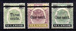 Selangor/Etat Malais YT N° 26/28 Neufs */(*). B/TB. A Saisir! - Selangor
