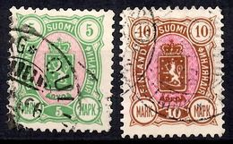 Finlande YT N° 34/35 Oblitérés. B/TB. A Saisir! - 1856-1917 Administration Russe