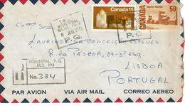 MONTREAL  PQ  , PC  And Registration  Postmarks 1972 , Christmas Stamp , Lisboa - Recomendados