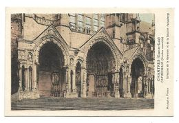 Chromo Chartres (Eure-et-Loir) Cathédrale (Porches Et Ensemble) - Kolarsine Et Pautauberge - Les Cathédrales De France - History
