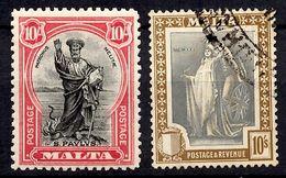 Malte YT N° 100 Oblitéré Et N° 133 Neuf *. B/TB. A Saisir! - Malta (...-1964)