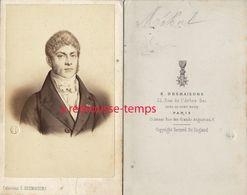 CDV Historique- Etienne Nicolas MEHUL-musicien, Compositeur D'opéras-par E. Desmaisons à Paris - Old (before 1900)