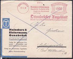 """Brief Deutsches Reich Freistempel """" Meinders & Elstermann """" Osnabrück 1932 - Covers & Documents"""