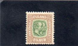 ISLANDE 1907-9 * - Nuevos