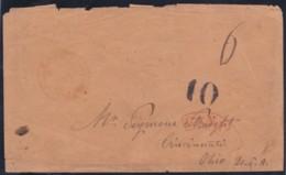 Canada  .  SG   .   1851 Cover To USA (2 Scans)       .    O      .   Cancelled.   /   .  Oblitéré - Briefe U. Dokumente
