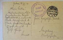 Frankreich Zabern, Armee Abt. Falkenhausen, Kraftfahrtruppen 1914 (70676) - Weltkrieg 1914-18