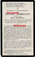 Oorlog Guerre Antoon Lambrechts Melsbroek Gesneuveld Laffelijk Geschoten Door Duitsers Te Steenokkerzeel 1914 Humbeeck - Devotion Images