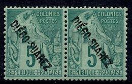 Diégo-Suarez Maury N° 16 En Paire Neufs ** MNH. TB. A Saisir! - Diego-suarez (1890-1898)