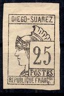 Diégo-Suarez Maury N° 8 Neuf *. B/TB. A Saisir! - Diego-suarez (1890-1898)