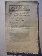 BULLETIN DES LOIS De 1795 - CARTE DE SURETE - REMISE DES LINGES AUX ENFANTS ET EPOUX DES CONDAMNES - Gesetze & Erlasse