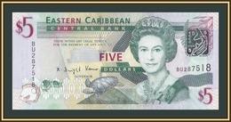 East Carribeans 5 Dollars 2008 P-47 UNC - Ostkaribik