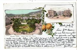 CPA-Carte Postale-Monte Carlo- Hotel Villa Des Fleurs- 1906 VM18090 - Monte-Carlo