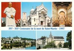 37 - Tours - 397 - 1997 - XVIe Centenaire De La Mort De Saint Martin - Multivues - Pape Jean Paul II - Carte Neuve - CPM - Tours