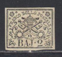 Etats Pontificaux 1852 Yvert 3A * TB Charniere(s) - Etats Pontificaux