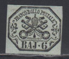Etats Pontificaux 1852 Yvert 7 * TB Charniere(s) - Etats Pontificaux