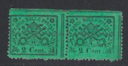 Etats Pontificaux 1867 Yvert 19 ** TB Paire - Etats Pontificaux