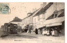MONTLHERY (S.-et-O.) - La Station Du Tramway - L'Arrivée Du Train - Montlhery