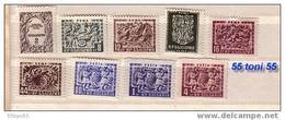 1952 -1953  Carvings In Monasteries ( Michel Nr- 835/43 )  9v.-MNH  Bulgarie / Bulgaria - Nuevos