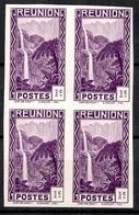 Réunion Maury N° 127 En Bloc De Quatre Timbres Non Dentelés Neufs ** MNH. TB. A Saisir! - Réunion (1852-1975)