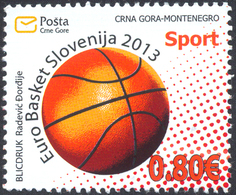 2013, Sports, Euro Basket Slovenija 2013, Montenegro, MNH - Montenegro