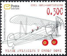 2013, The 100th Anniversary Of Aviation In Montenegro, Montenegro, MNH - Montenegro