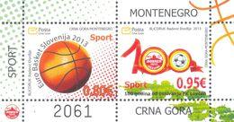 2013 Block, Sports, Euro Basket Slovenija 2013, Montenegro, MNH - Montenegro