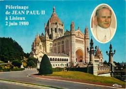 14 - Lisieux - La Basilique - Pèlerinage Du Pape Jean Paul II Le 2 Juin 1980 - Carte Neuve - CPM - Voir Scans Recto-Vers - Lisieux