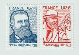 TIMBRE -  2014  - N° P 4869/70  - Personnalité , Jean Jaurès , Homme Politique   -  Neufs  Sans Charnière - France