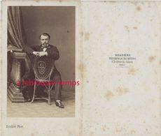 CDV Par Disdéri- Portrait D'homme à Califourchon Sur Sa Chaise- Paris - Old (before 1900)