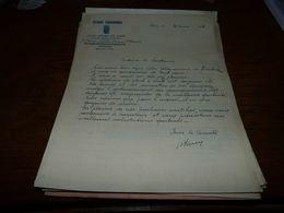 Document Football Standard Club Paturageois Paturages 1937 - Documents Historiques