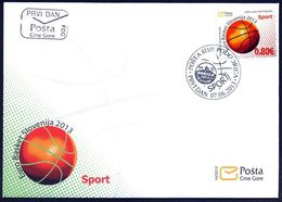 2013, FDC, Sports, Euro Basket Slovenija 2013, Montenegro, MNH - Montenegro