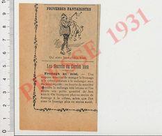 Humour Qui Aime Bien Chatie Bien Fessée Enfant Martinet + Recette Fromage Au Miel 226ZH - Vieux Papiers