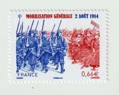 TIMBRE -  2014  -  N°  4889 -  Centenaire De La Mobilisation Générale -  Neuf Sans Charnière - France