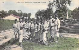 MILITARIA - 78 - ( Série GENIE ) Ecole De Chemins De Fer - Jolie CPA Colorisée  N° 10 - Yvelines ( Train ) - Militaria