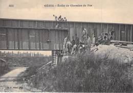 MILITARIA - 78 - ( Série GENIE ) Ecole De Chemins De Fer - Jolie CPA Colorisée  N° 12 - Yvelines ( Train ) - Militaria