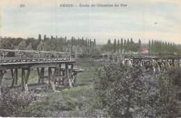MILITARIA - 78 - ( Série GENIE ) Ecole De Chemins De Fer - Jolie CPA Colorisée  N° 11 - Yvelines ( Train ) - Militaria