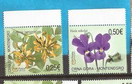 2006 114-15  MONTENEGRO  CRNA GORA FLORA FIORI NEVER HINGED - Montenegro