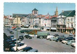 Chalon Sur Marne - Place De La Republique - Automobiles - DS - 2 Chevaux - Simca - Aronde  - CPSM ° - Châlons-sur-Marne