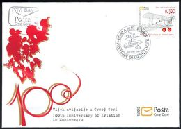 2013, FDC, The 100th Anniversary Of Aviation In Montenegro, Montenegro, MNH - Montenegro