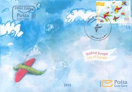 2013, FDC, Joy Of Europe, Montenegro, MNH - Montenegro