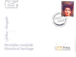 2013, FDC, Historical Heritage, Jelena Savojska, Montenegro, MNH - Montenegro