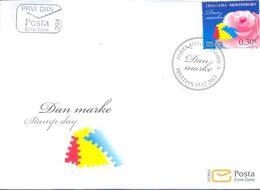 2013, FDC, Stamp Day, Montenegro, MNH - Montenegro