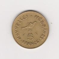 NOUVELLES HEBRIDES 5 FRANCS 1970 - Vanuatu