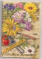 1958 CATALOGUE VILMORIN ANDRIEUX GRAINES PLANTES FLEURS ROSIERS FRUITIERS   N1 - Agricultura