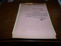 Document Football  Bosquétia Club Frameries 1945 - Historical Documents