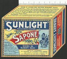 Depliant Pubblicitario SUNLIGHT SAPONE - Cromolitografia - Chromos