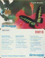 182/ Malaysia; Butterfly - Rajah Brooke - Malaysia
